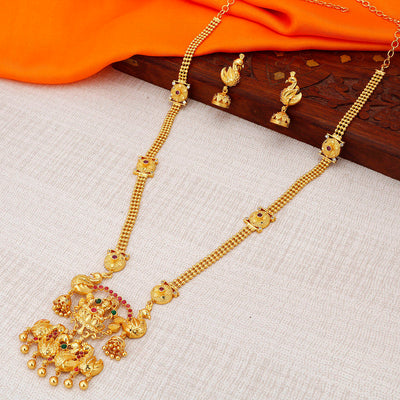 Sukkhi Fancy Gold plated Temple Necklace Set for Women