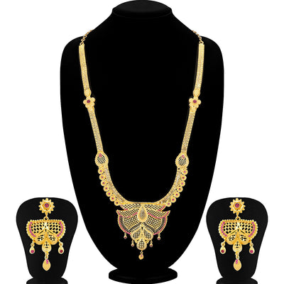 Sukkhi Designer Gold plated Long Hram Necklace Set for Women