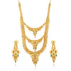 Sukkhi Graceful Gold plated Rani Haar Necklace Set for Women