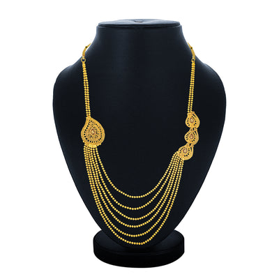 Sukkhi Excellent Gold Plated 6 String Long Haram Necklace for Women