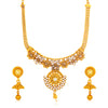 Sukkhi Resplendent Gold Plated Floral Kundan Collar Necklace Set for Women