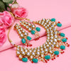 Sukkhi Glittery Gold Plated Kundan Choker Necklace Set For Women