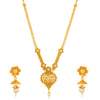 Sukkhi Sensational Gold Plated Jalebi with 3 String Long Haram Necklace Set for Women
