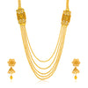 Sukkhi Tibale Gold Plated Jalebi Long Haram Necklace Set for Women