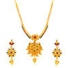 Sukkhi Pretty Gold Plated Jalebi with 3 String Collar Necklace Set for Women