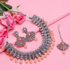 Sukkhi Astonish Oxidised Plated Pearl Choker Necklace Set For Women