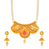 Sukkhi Fascinating Gold Plated Jalebi Collar Necklace Set for Women