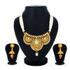 Sukkhi Charming Gold Plated Jalebi Collar Necklace Set for Women