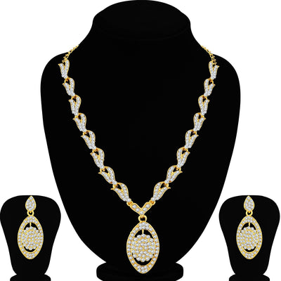 Sukkhi Classy Gold Plated Necklace Set For Women