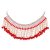 Sukkhi Fascinating Pearl Gold Plated Kundan Choker Necklace Set For Women