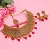 Sukkhi Blemish LCT Gold Plated Choker Necklace Set For Women