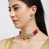 Sukkhi Elegant Mint Collection Kundan Gold Plated Neckalce Set for Women