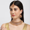 Sukkhi Tibale Gold Plated Meenakari Choker Neckalce Set for Women