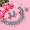Sukkhi Delightful Oxidised Pearl Choker Necklace Set For Women