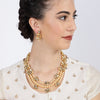 Sukkhi Splendid Gold Plated Kundan Pearl Neckalce Set for Women