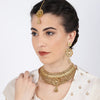 Sukkhi Charming Gold Plated Choker Neckalce Set for Women
