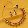 Sukkhi Shimmering Gold Plated Kundan Choker Necklace Set For Women