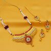 Sukkhi Attractive Pearl Gold Plated Choker Necklace Set For Women
