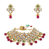 Sukkhi Lavish Kundan Gold Plated Mint Collection Choker Necklace Set for Women