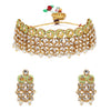 Sukkhi Trendy Kundan Gold Plated Mint Collection Choker Necklace Set for Women
