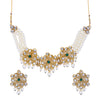 Sukkhi Ravishing Kundan Gold Plated Pearl Choker Necklace Set for Women