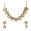 Sukkhi Adorable Kundan Gold Plated Mint Collection Pearl Choker Necklace Set for Women