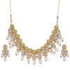 Sukkhi Elegant Kundan Gold Plated Pearl Floral Choker Necklace Set for Women