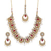 Sukkhi Modish Kundan Gold Plated Pearl Choker Necklace Set for Women