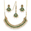 Sukkhi Antique Kundan Gold Plated Pearl Collar Necklace Set for Women