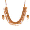 Sukkhi Appealing Gold Plated Floral Collar Necklace Set for Women