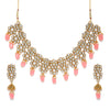 Sukkhi Pretty Kundan Gold Plated Pearl Collar Necklace Set for Women
