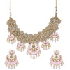 Sukkhi Designer Kundan Gold Plated Meenakari Pearl Choker Necklace Set for Women
