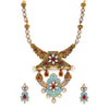 Sukkhi Beguiling Pearl Gold Plated Mint Collection Collar Necklace Set for Women