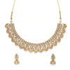 Sukkhi Resplendent Gold Plated Kundan Choker Necklace Set for Women