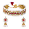 Sukkhi Charming Pearl Gold Plated Choker Necklace Set for Women