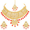 Sukkhi Lavish Gold Plated Kundan Choker Necklace Set For Women