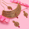 Sukkhi Graceful LCT Gold Plated Choker Necklace Set For Women
