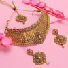 Sukkhi Ravishing LCT Gold Plated Choker Necklace Set For Women
