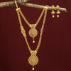 Sukkhi Glamorous Gold Plated Long Haram Floral String Necklace Set for Women