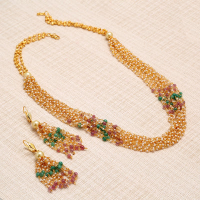 Sukkhi Bollywood Collection Appealing Gold Plated Multicolour Necklace Set For Women