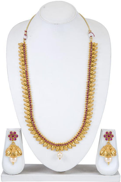 Sukkhi Bollywood Collection Motif Gold Plated Necklace Set for Women
