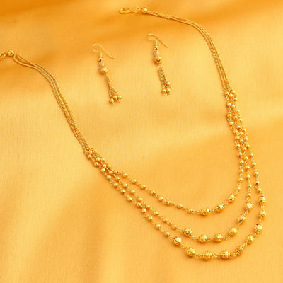 Sukkhi Bollywood Collection Brilliant String Gold Plated Necklace Set for Women