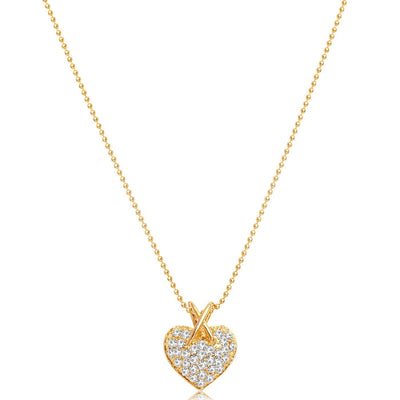 Sukkhi Lavish Heart Shaped Gold Plated Pendant for women