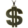 Sukkhi Modern Gold Oxidized Dollar Sign Pendant With Chain For Men