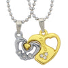 Sukkhi Valentine Heart Friend Dual Tone 2pcs Pendant With Chain Set For Men
