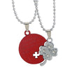 Sukkhi Four Leaf Clover Couple Love 2pcs Pendant With Chain For Men