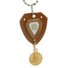 Sukkhi Classic Gold Plated Shield Shaped Pendant With Chain For Men