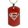 Sukkhi Charming Superman Dog Tag Pendant With Chain For Men