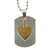 Sukkhi Glitzy Golden Heart In Dogtag Pendant With Chain For Men