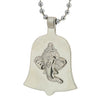 Sukkhi Classic Rhodium Plated Shree Ganesh Face Pendant with Chain for Men
